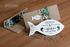 Fishing+Themed+Wedding | read more 2 comments fishing themed invitation fish wedding invite