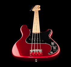 Fender American Special Precision Bass MN CAR bass guitar, finish: Candy Apple Red #fender #bass #thomann