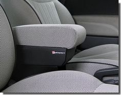 """FIAT 500 Armrest with large storage in original """"Lounge"""" fabric"""