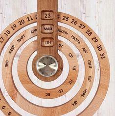 Вечный календарь, деревянный календарь, фрезеровка дерева, необычный подарок, оригинальный календарь