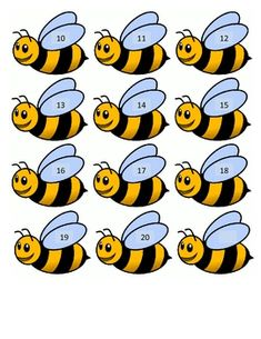 Students count how many flowers are on each hive and match with the correct number on the bee. Kindergarten Science, Preschool Math, Boarders For Bulletin Boards, Buzz Bee, Bee Creative, Spelling Bee, Bee Crafts, Bee Art, Bee Theme