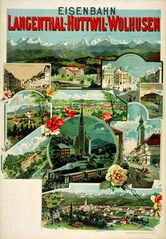 Schweizerische Nationalbibliothek NB -Die ersten Schweizer Plakate: Tourismusplakate Vintage Posters, Switzerland, Movie Posters, Pictures, Paths, Iron, Swiss Guard, Tourism, Poster