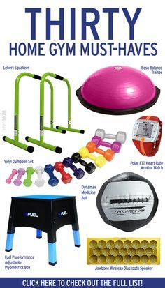 Get fit at home with these 30 gym must-haves! The post Get fit at home with these 30 gym must-haves! appeared first on fitness. Fitness Workouts, Workout Gear, No Equipment Workout, At Home Workouts, Fitness Equipment, Cardio Workouts, Fitness Gear, Walking Workouts, Best Home Gym Equipment