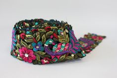 Hand embroidered ribbon
