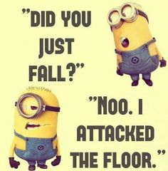 Have to remember this for the next time my clumsy self falls :/