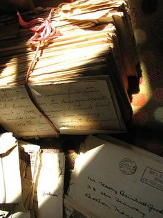 Sadly, a lost art... Beautiful old Letters: photo by Lari Washburn.