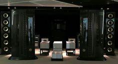 Genesis 1.2 Dragon speaker system driven by Viola Audio Labs amplifier's
