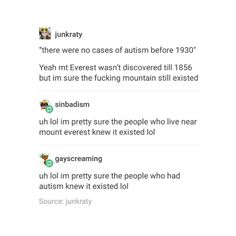 CAN I JUST POINT OUT THAT PEOPLE CALLED KIDS WITH AUTISM CHANGELINGS. THAT'S LITERALLY WHAT 'CHANGELING' KIDS WERE. KIDS WITH AUTISM. THANK YOU AND GOOD NIGHT.