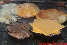 How To Make A Homemade 5 Guys Burger - Fried onions and cheese are a must.