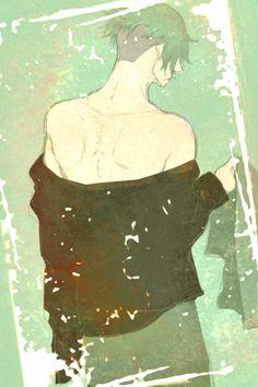 Kyaaaa~ x/////////x A half naked Decim!!!