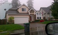 1-888-WOW-1DAY! Painting Seattle Franchise. Before shot - exterior painting job