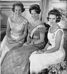 Royal Sisters...Danish Royal Family around Princess Anne-Marie's 18th birthday in August 1964.