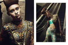 Modeconnect.com - Glassbook magazine beauty editorial 'Dirty Gritty'