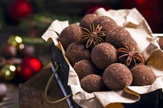 Rum balls are an easy chocolate candy to make at home! You'll need just a few minutes to make these rich chocolate treats.