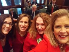 "Rep. Bellock, women legislators celebrate ""Go Red Day"" - http://www.repbellock.com/2017/02/rep-bellock-women-legislators-celebrate.html"