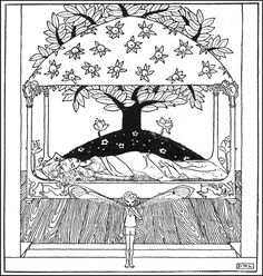 Art by Dorothy Lathrop (1922) from DOWN-ADOWN-ADERRY: A Book Of Fairy Poems…