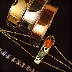 #bracelets#pink#grey#yellow#gold #lapislazuli#rmouzannar #beirut #lebanon #jeweler