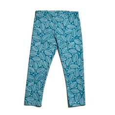 Baby Tights - Leaves & Berries Teal