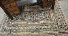 "Kuba Chi Chi Oriental rug, late 19th century (some wear).  4' 3"" x 6' 4"". Realized Price $3,750.00"