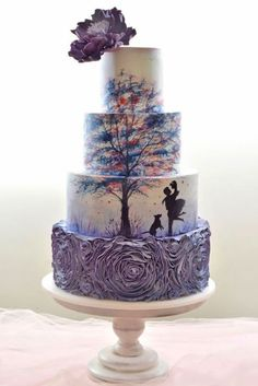 18 Eye-Catching Unique Wedding Cakes :heart: See more: www. From birdcage to fairy tale we're gathered unique wedding cakes to help you find some inspiration and do your wedding for 100 percent awesome! Unique Wedding Cakes, Unique Cakes, Wedding Cake Designs, Creative Cakes, Cake Wedding, Trendy Wedding, Rustic Wedding, Elegant Wedding, Unique Birthday Cakes