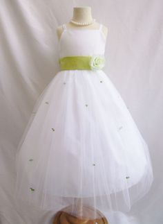 22125540a5f IVORY flower girl dress more than 20 sash and by KidsDreamsUSA