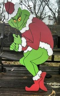 The Grinch Stealing Lights - THIS IMAGE IS NOT MY WORK,  but it's next on my WISH-TO-MAKE list by Art-de-Yard.