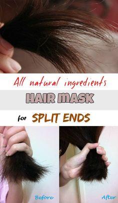 All natural ingredients hair mask for split ends