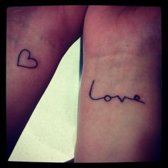 Great idea for matching wrist tattoos | Tumblr