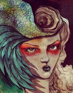 Art and Illustration by sara-blake - 100 Girls