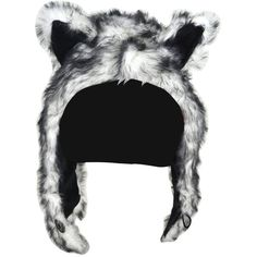 Huksy Half Hood Animal Hat ($17) ❤ liked on Polyvore featuring accessories, hats and animal hats