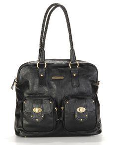 Rachel- Black-timi & leslie diaper bags, diaper bag, mom, new mom, baby shower gift, trendy, baby boutique, celebirty bags, designer, rachel, black