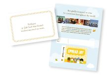 GlobalGiving Gift Cards 100% biodegradable. 100% tax-deductible. 100% guaranteed.  Give the gift of changing the world - for as little as...