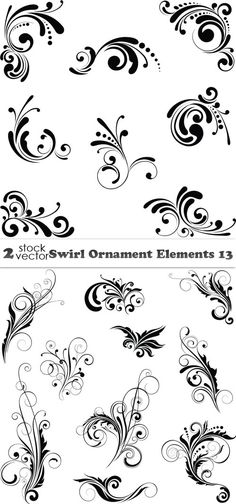 Vectors - Swirl Ornament Elements 13 2 AI |  TIFF Preview | 16 MB