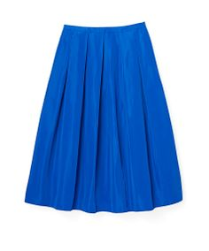 Silk-Blend Ball Skirt—This modern silk-blend ball skirt—from Lord & Taylor's new private label—looks amazing on everybody and is a snap to dress up or down.