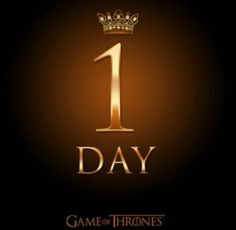 Just 1 More Day until the Premiere !!!! 4/6/2014  #GameofThrones #ProudNerd #GoTSeason4