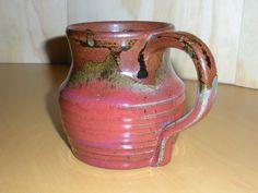 Handmade ceramic coffee mug Unique design Spill by MarthaGrattan, $15.00