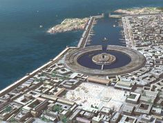 Ancient Carthage, located on NE African coast, founded c 800 BC, was the center of the Phoenician Empire. Historical Architecture, Ancient Architecture, Ancient Rome, Ancient History, Ancient Greece, Carthage Tunisia, Punic Wars, Rome Antique, Phoenician