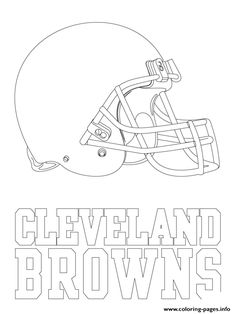 cleveland browns logo football sport coloring pages printable and coloring book to print for free. Find more coloring pages online for kids and adults of cleveland browns logo football sport coloring pages to print. Football Coloring Pages, Shark Coloring Pages, Sports Coloring Pages, Adult Coloring Pages, Coloring Pages For Kids, Football Field, Football Spirit, Patriots Football, New England Patriots Logo