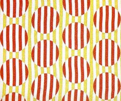 A 1924 Varvara Stepanova textile. Stepanova was born in Lithuania, and inspired by the Russian Revolution to make functional textiles. Her use of geometric shapes and few colors shows how modernism influenced her work as well.  #textiles #stepanova #1920s #modernism