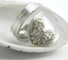 Daisy 1910, Antique Spoon Ring~ I said no more, but I'm LOVING the daisies :)