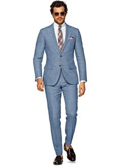 Suit Light Blue Check Lazio P4235i | Suitsupply Online Store