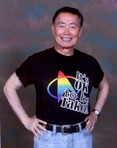 """""""It's OK to be Takei!"""" I need this shirt in my life"""