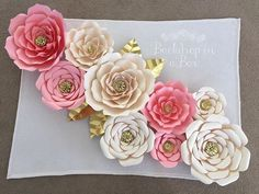"""Back Drop In A Box's paper flowers. So exquisite! Maybe for a """"photo op or photo booth"""" area"""