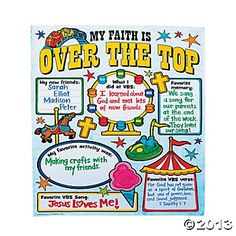 """Color Your Own All About """"Over The Top"""" VBS Posters"""