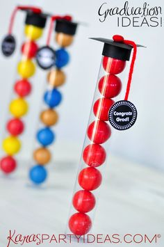 Graduation Cap Gumball Tube Gifts! FREE printables! - Kara's Party Ideas - The Place for All Things Party