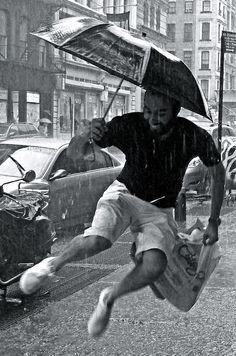 Jumpin' in the Rain by Tony Fischer on Flickr. 2008. Original in colour. °