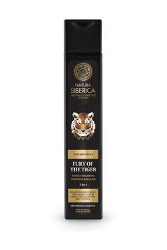 Natura Siberica MEN - FOR MEN ONLY - LA FURIA DEL TIGRE. Champú energizante para cuello y cabello 2 en 1. (krous.es)