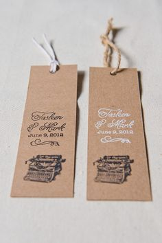 Stamped Bookmark Favours   by Have & Hold Design
