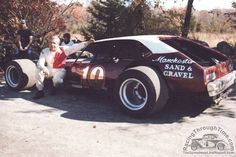 New England Auto Racing Hall of Fame member the late Steady Eddie Flemke is pictured here with one of the more-successful rides of his legendary career, the Manchester Sand & Gravel Pinto.  http://www.racingthroughtime.com/