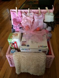 Baby shower baskets by yours truly